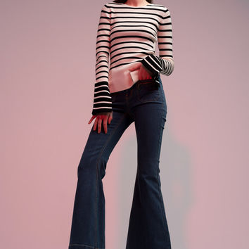 Bell Bottom Stretch Jeans