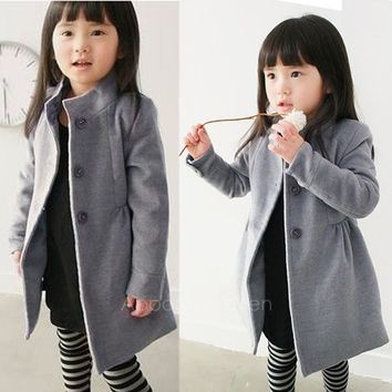 Children's Clothing Girls Winter Coat Kid Jacket Thick Warm Trench Overcoat Cotton-padded AP = 1930443652