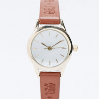 Reflex Leather Elephant Watch in Brown - Urban Outfitters