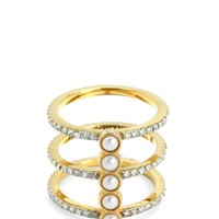 Pave And Pearl Ring by Juicy Couture