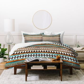 Iveta Abolina Brown Teal Navajo Duvet Cover