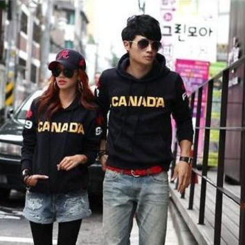 Free shipping 1 piece hoodie 2014 fashion Couple hoodie with hood hip hop hoodies canada printed hoodies for spring/autumn/winter 8 color
