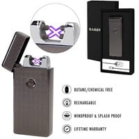 Saberlight X Dual Arc Plasma Lighter - Rechargeable Flameless Plasma Beam Lighter - Electric lighter - Plasma lighter - rechargeable - no butane - splashproof - windproof