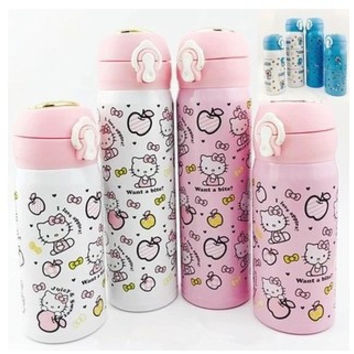 New Hello Kitty Stainless Steel Double Wall Vacuum Flask Coffee Mug Travel Tumbler Water Bottle Insulated Star Thermo Cup