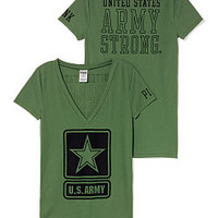 Army Mascot V-neck Tee - PINK - Victoria's Secret