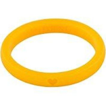 LMF7B5 Silicone Wedding Ring for Women by WNDRNG. Thin Stackable Single Wedding Band Set or Pack of 10 Rings. Perfect for Athlete, CrossFit, Nurse, Travelers, Police, Military. Size 4 - 10