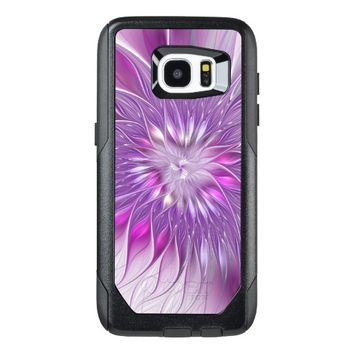 Pink Flower Passion Abstract Fractal Art OtterBox Samsung Galaxy S7 Edge Case