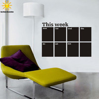 Removable Chalkboard Weekly Planner Wall Sticker