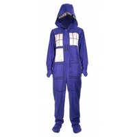 Doctor Who: TARDIS Adult Onesuit with Removable Feet