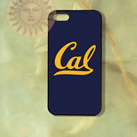 California Berkeley Cal Bear University iPhone 5, 5s, 5c, 4s, 4, ipod touch 4, 5, Samsung GS3 GS4-Silicone Rubber, Hard Plastic cover