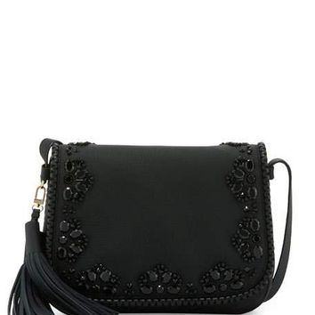 kate spade new york anderson way lietta leather crossbody bag, black