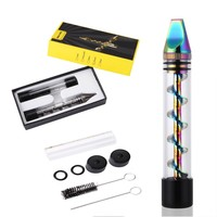 Newly Designed 2Series Rainbow Stainless Steel Smoking Twisty Glass Blunt Pipe