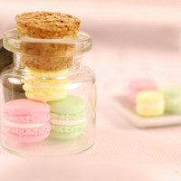 macaroon jar magnet by SweetArtMiniatures on Etsy