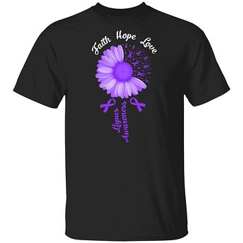 Faith Hope Love Purple Ribbon Lupus Awareness
