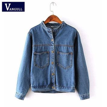 Women's Jeans Loose Denim Jacket Fashion 2016 Autumn Vintage Spring Women Short Jean Jacket jackets for women Outwear Coat