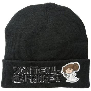 PEAPGQ9 Star Wars - Don't Call Me Princess Cuff Knit Hat