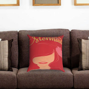 The Little Mermaid Novel Pillow Cover , Custom Zippered Pillow Case One Side Two Sides