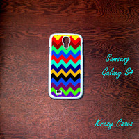 Samsung Galaxy S4 Case, colored Chevron pattern with personalized monogram Samsung Galaxy S4 case, Samsung Galaxy S3 Cases, Galaxy  S3 case