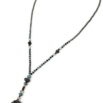 Stone Bead Pendant Necklace