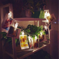 1.5M Mini 10 led clip  string lights battery Christmas lights new year party wedding home decoration fairy lights battery
