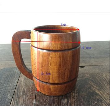 400ml Wood Wooden Milk Beer Mug Souvenir Tea Beer Cup Barrel Drink Mugs