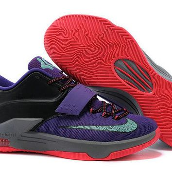 How To Buy KD 7 Lightning 534 Cave Purple Hyper Grape Magnet Grey Bleached Turquoise 653996 535 Brand sneaker