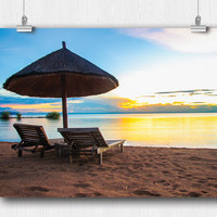 Sunrise over Calm African Waters Poster