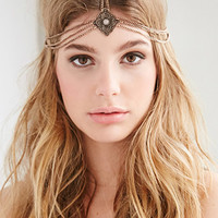 Chained Etched Pendant Head Piece