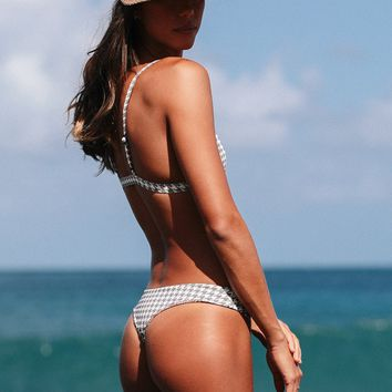 ACACIA Swimwear 2019 Ho'okipa Bottom in Houndstooth