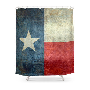 "Society6 The State Flag Of Texas - The ""Lone Star Flag"" Of The ""Lone Star State"" Shower Curtains"
