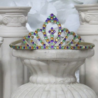 Mardi Gras - Mardi Gras Tiara - New Orleans - French Quarter - Princess Gifts - Girls Headband - Adult Headband - Costume Accessories