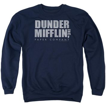 The Office - Dunder Mifflin Distressed Adult Crewneck Sweatshirt