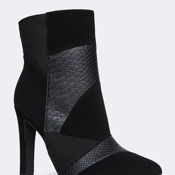SNAKE PATCHED BOOTIE