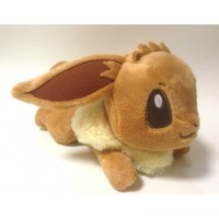 Pokemon 2013 Banpresto UFO Game Catcher Prize I Love Eievui Series Eevee DX HQ Plush #2 (Lying Down Version)