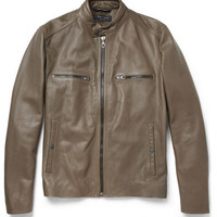 Rag & bone Benson Leather Bomber Jacket | MR PORTER