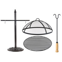 AFD Home Fiesta Fire Pit And Accessory Stand