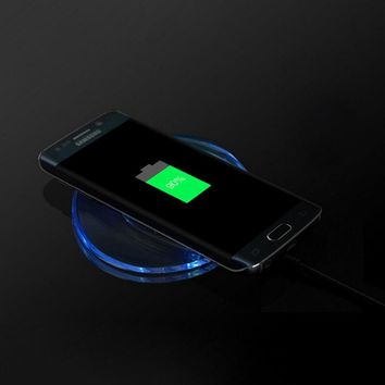 Qi Wireless Charger For iPhone 7 7Plus Portable Universal Phone Charging Adapter Pad For iPhone 7 6 6S Plus 5 5S SE S Receiver