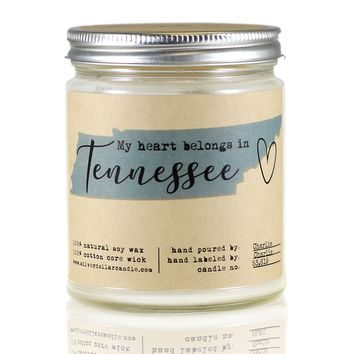 Tennessee State Candle - 8oz Soy Candle