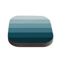 "Trebam ""Cijan"" Navy Teal Coasters (Set of 4)"