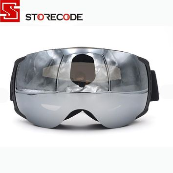 StoreCode Brand New Ski Goggles Double Lens Anti-Fog UV400 Snowboard Glasses Men Women Black Frame Skiing Snow Goggles Set 658
