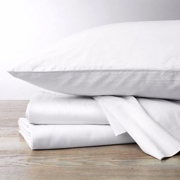 Alpine White 300 TC Organic Sateen Sheeting