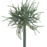 "Faux Pencil Cactus Succulent Pick in Grey Green - 9"" Tall"