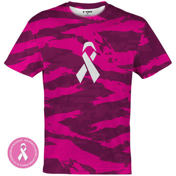 Digital Ripped camo pink Quick-Dry Jersey