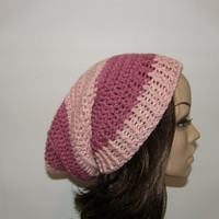 Everyday Extra Slouch Hat  Pink Stripes