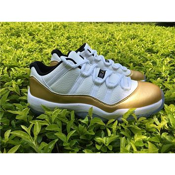 Nike Air Jordan Ceremony 11 XI Low Retro Gold White Olympic 528895 103 Men & GS Basketball Sneaker