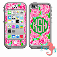 Monogrammed Lilly Pulitzer Inspired LifeProof Case DECAL - iPhone 6, iPhone 4/4s, iPhone 5/5s or iPhone 5c