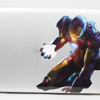 Iron Man - Mac Decal Macbook Stickers Macbook Decals Apple Decal for Macbook Pro / Macbook Air / iPad /  iPad2 / iPad3 / iPhone