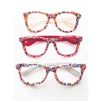 Custom Yummy Sprinkles Sunglasses by Moon by MoonShineApparel