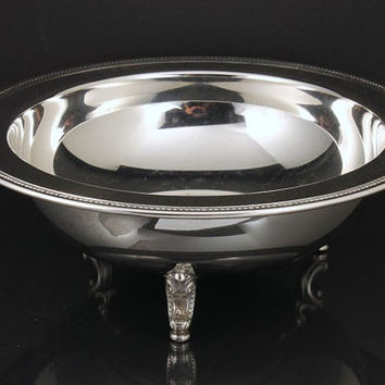 Silver Plate Footed Bowl Oneida Silver Jefferson Pattern