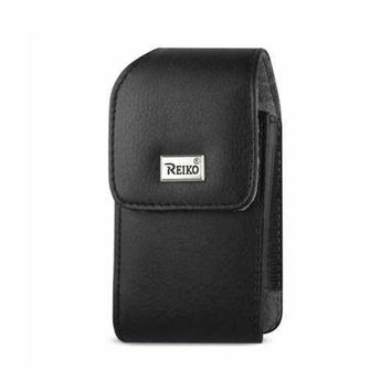 VERTICAL LEATHER POUCH TREO 650 WITH MEGNETIC AND METAL BELT CLIP IN BLACK (4.4X2.3X0.9 INCHES)
